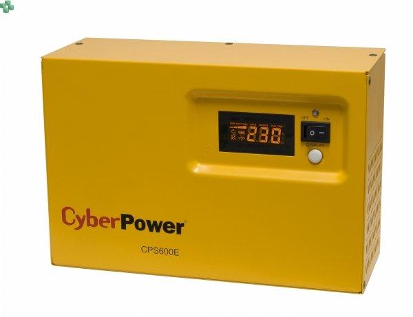 Zasilacz UPS CyberPower CPS600E-FR 600VA/420W, długie czasy podtrzymania, sinus na wyjściu Baterie zewnętrzne do kupienia osobno.