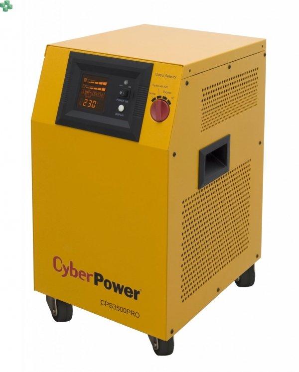 CPS5000PRO Zasilacz UPS CyberPower 5000VA/3500W, długie czasy podtrzymania, sinus na wyjściu, opcja karty sieciowej. Baterie zewnętrzne do kupienia osobno.