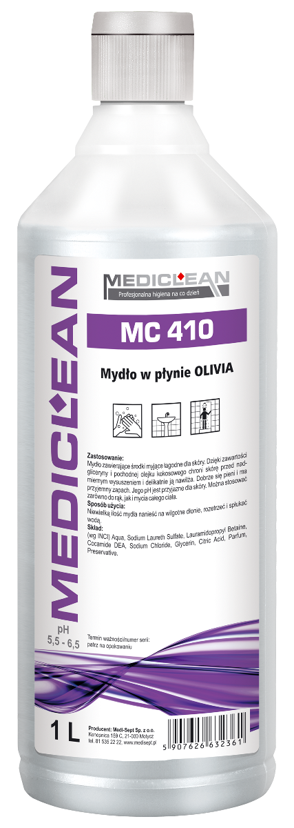 Mydło Olivia Mediclean MC-410 - Różne Pojemności 0,5l, 5l