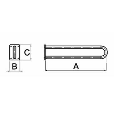 Uchwyt Umywalkowy Stały na Blasze fi 32mm - Różne Rodzaje