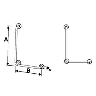 Uchwyty Kątowe Prawe/Lewe fi 32mm - Różne Rodzaje