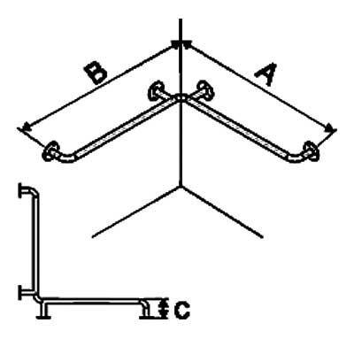 Uchwyty Prysznicowe Inox fi 32mm - Różne Rodzaje