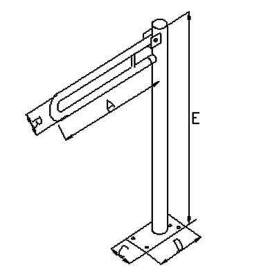 Uchwyty Uchylne Wolnostojące fi 32mm - Różne Rodzaje