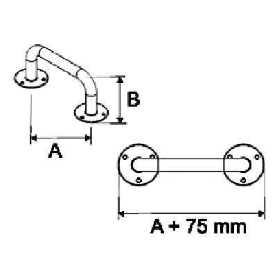 Uchwyty Łazienkowe Proste fi 25mm - Różne Rodzaje