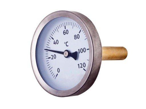 Termometr tarczowy 1/2'' do C.O.
