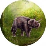 Hokus - opłatek na tort okrągły Triceratops 1