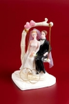 Figurka na tort Para Młoda NA HUŚTAWCE - mała