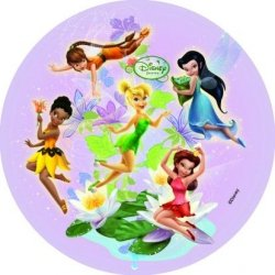 Modecor - opłatek na tort okrągły Wróżki Disneya A