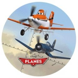 Modecor - opłatek na tort okrągły Samoloty A