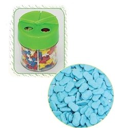 Posypka dekoracyjna confetti buciki niebieskie 360g