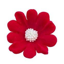 Stokrotka czerwona - Kwiatki cukrowe 5 x 6 op.