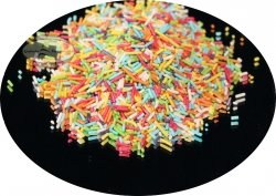 Posypka dekoracyjna makaronik kolorowy - 50 g