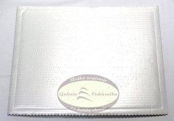 Podkład tortowy tacka z tektury perłowa 30 x 40 cm