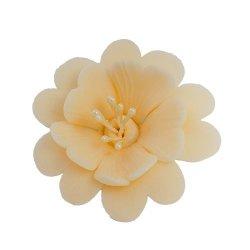 Fuksja ecru - kwiaty cukrowe - 8 szt.