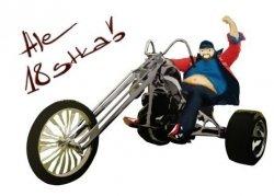 Hokus - Chopper Man opłatek na tort okrągły 18-tka opak.12 szt.