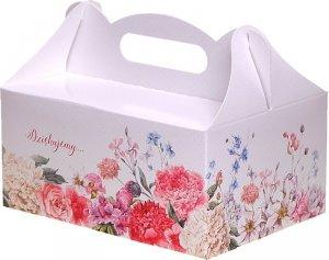 Ozdobne pudełko na ciasto weselne 10 szt. Kwiaty