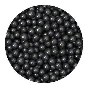 Perełki cukrowe CZARNE nabłyszczane miękkie 5mm 50g