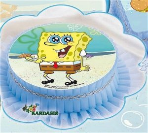 Kardasis - Opłatek na tort okrągły Pan Gąbka Spongebob 50801