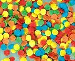 Posypka dekoracyjna confetti kółeczka kolorowe duże