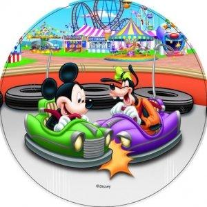 Modecor - opłatek na tort okrągły Mickey Mouse Wesołe Miasteczko