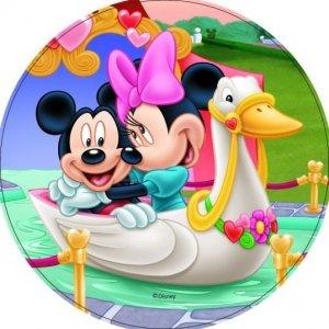 Modecor - opłatek na tort okrągły Mickey Mouse Love