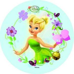 Modecor - opłatek na tort okrągły Wróżka Disneya B