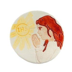 Hostia z dziewczynką - dekoracja cukrowa ręcznie malowana 1szt.