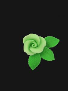 Róża mała z listkami - pistacjowa 20 kompletów