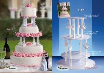 Kardasis - stojak na torty weselne Wieża z Łabędziami