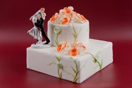 Kwiaty cukrowe - Storczyk opak. 10 szt. różowy