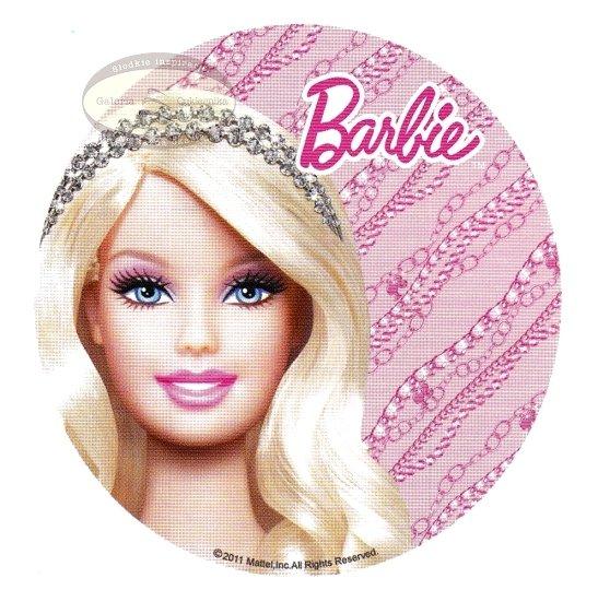 Kardasis - opłatek na tort okrągły Barbie Portret - 10 szt