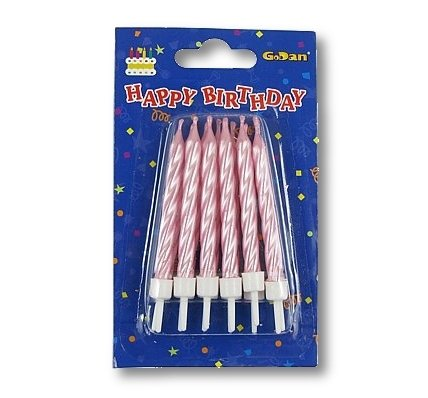 Świeczki urodzinowe spiralne - różowe