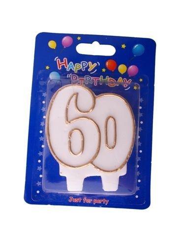 """Świeczka cyfra """" 60 """""""