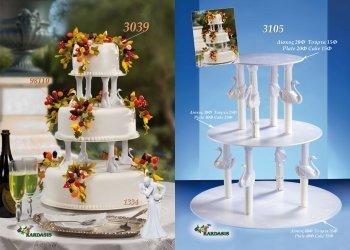 Kardasis - stojak na torty weselne Wieża z Łabędziami 3-piętrowa