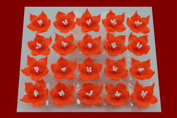 Lilijka pomarańczowa - kwiaty cukrowe - 20 szt.