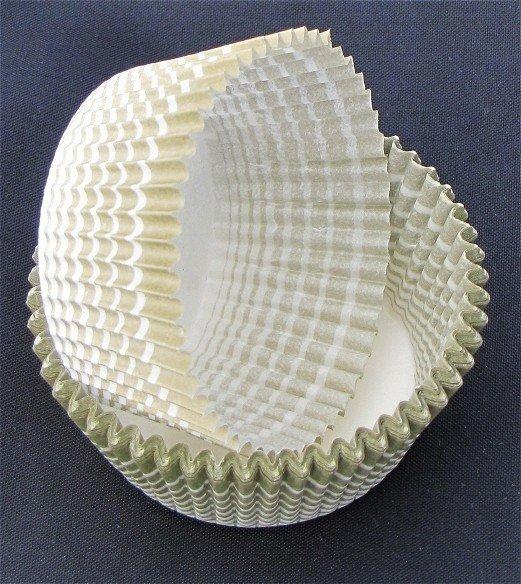 Papilotki - foremki do mufinek oliwkowe 40 mm 100 szt.