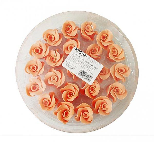 Róża duża 22 szt. łososiowa