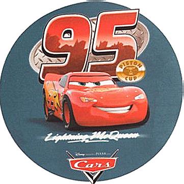 Kardasis - opłatek na tort okrągły The Cars - Auta 10 szt.