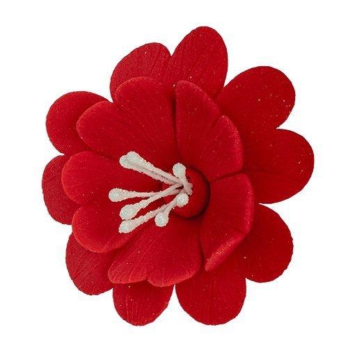 Fuksja czerwona - kwiaty cukrowe - 8 szt.