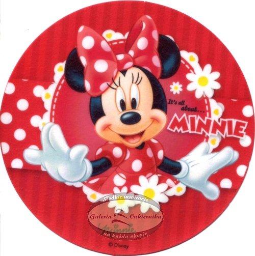 Kardasis - opłatek na tort okrągły Myszka Minnie 50793