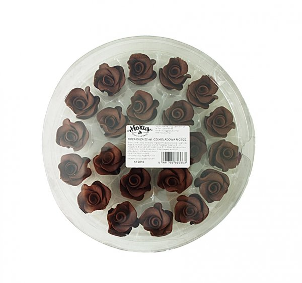 Róża duża 22 szt. czekoladowa