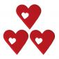 Dekoracja na tort cukrowe SERCA z sercem (15x3szt)