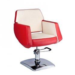 Fotel Fryzjerski Nico Czerwono-kremowy BD-1088 BS