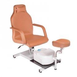 Fotel do pedicure z masażerem stóp BD-5711 Beżowy BS
