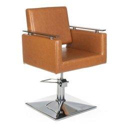 Fotel Fryzjerski Milo BH-6333 JASNO Brązowy BS