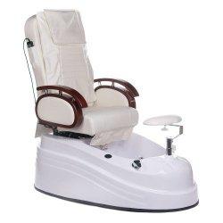 Fotel do pedicure z masażerem BR-2307 Kremowy BS