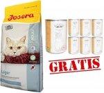 Josera Leger dla kotów starszych i mało aktywnych 2kg +12 puszek Abart z drobiem GRATIS