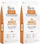 Brit Care N Adult Medium Breed Lamb & Rice 2x12kg (24kg)