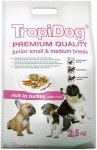 Tropidog Premium Junior Small & Medium Breeds - Indyk i Ryż 2,5kg