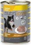 Nutrilove Premium Pyszny pasztet dla psa z kurczaka 800g